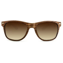 Men's Surf Shade Sunglasses with Wooden Textured Frame - Goodfellow & Co™ Brown