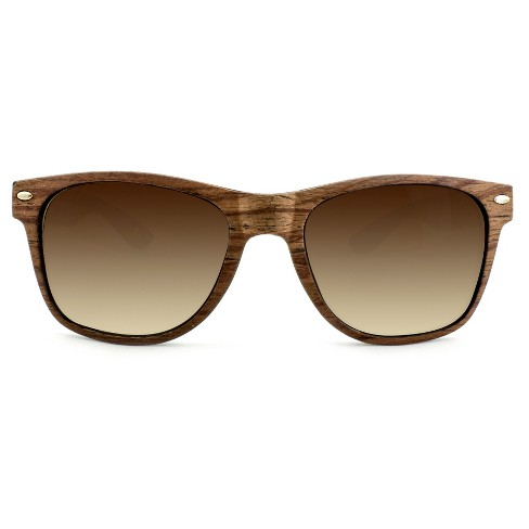 1b09d7acdf7a4 Men s Surf Shade Sunglasses With Wooden Textured Frame - Goodfellow   Co™  Brown   Target