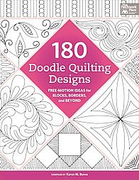180 Doodle Quilting Designs : Free-Motion Ideas for Blocks, Borders, and Beyond (Paperback)