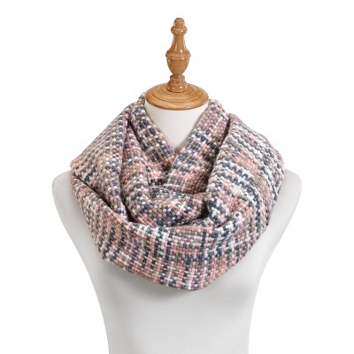 DEMDACO Pink Woven Threads Infinity Scarf One Size - Pink