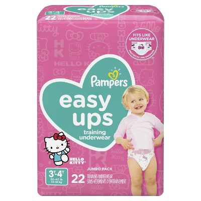 Pampers Easy Ups Girls' Training Pants Jumbo Pack - 3T-4T (22ct)