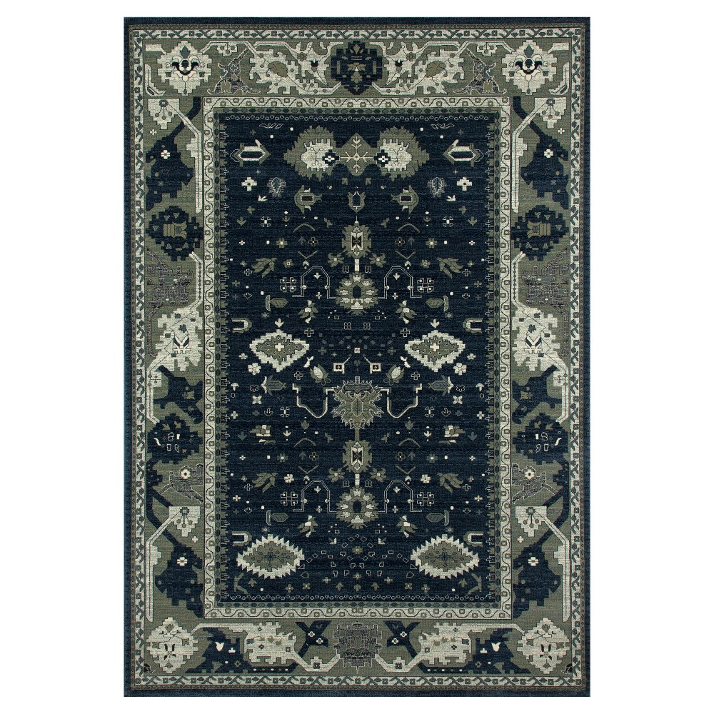 Image of Blue Abstract Woven Area Rug - (6'X9') - Art Carpet