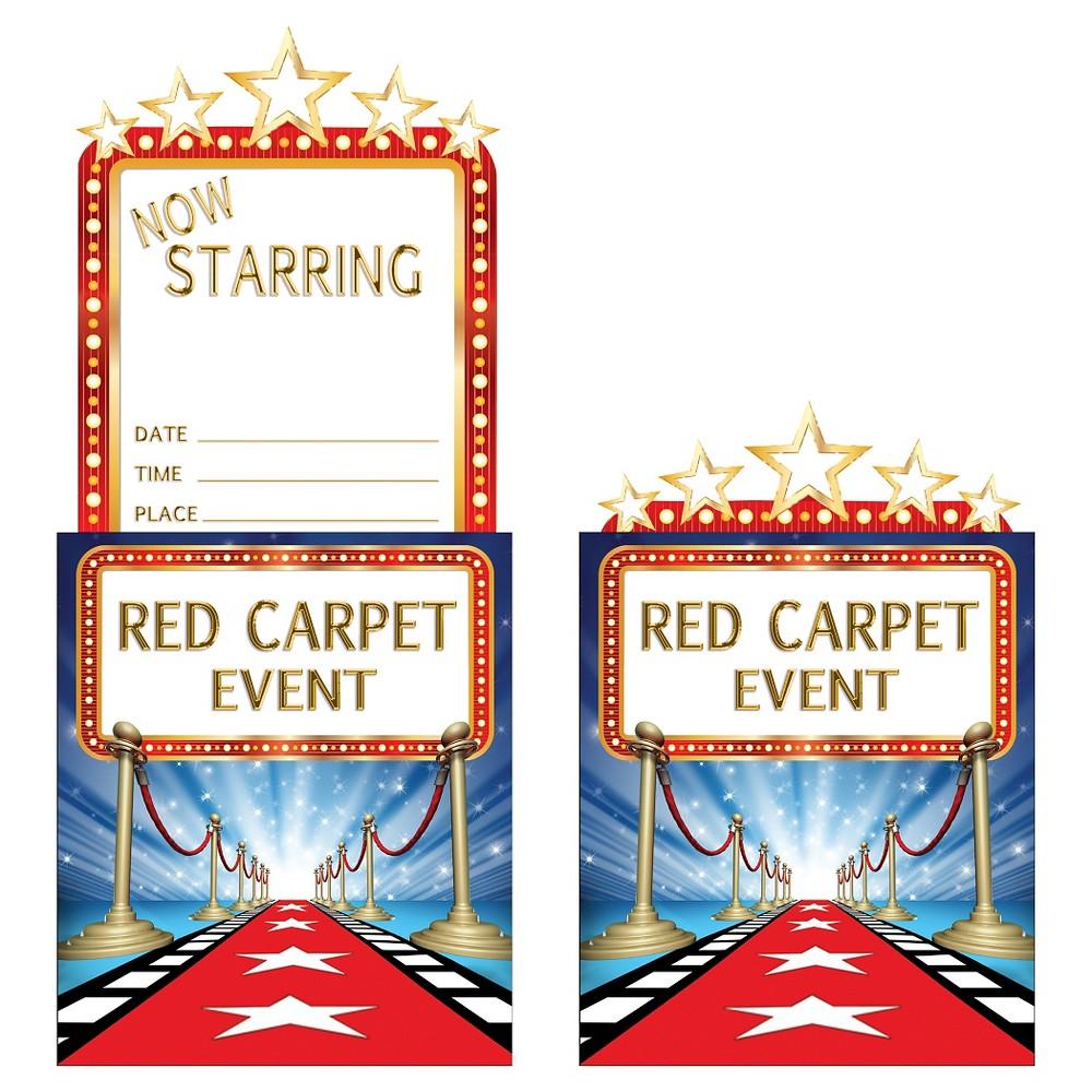8ct Hollywood Lights Invitations