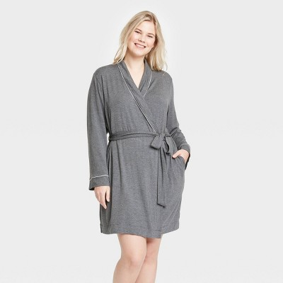 Women's Plus Size Beautifully Soft Robe - Stars Above™ Heather Gray 3X-4X