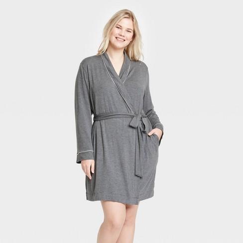 Women's Plus Size Beautifully Soft Robe - Stars Above™ Heather Gray - image 1 of 2