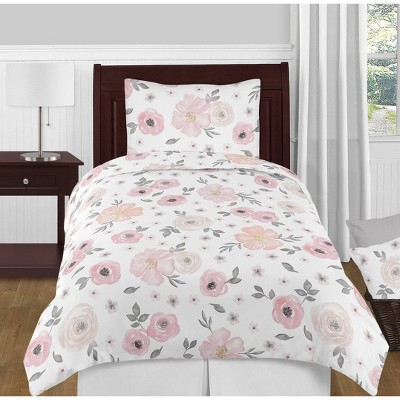 4pc Watercolor Floral Twin Bedding - Sweet Jojo Designs