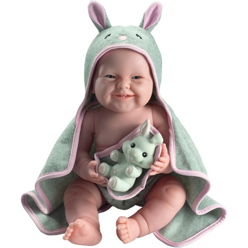 """JC Toys La Newborn Bath Ready 17"""" Girl Doll - Bunny Theme Outfit with Accessory - image 1 of 3"""