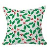 """20""""x20"""" Holly Day Throw Pillow Green - Deny Designs - image 2 of 2"""