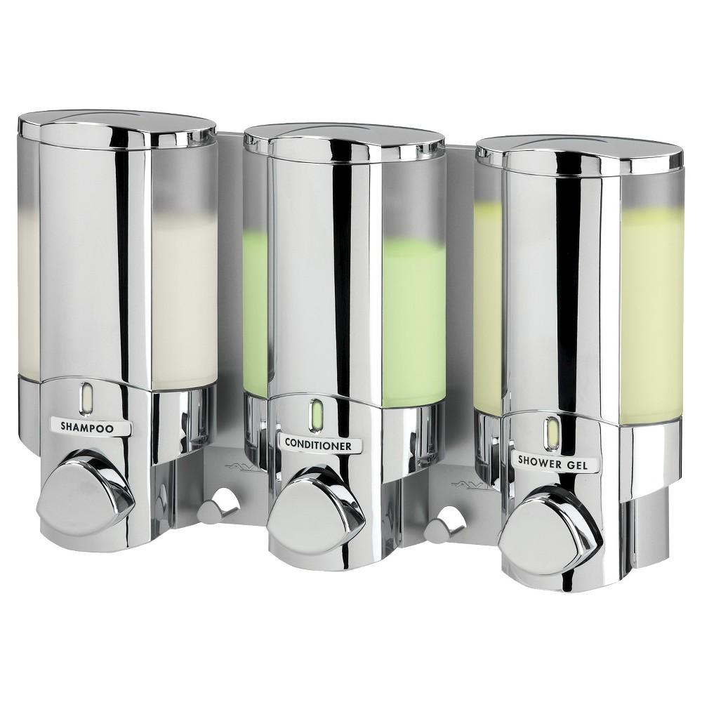 Image of Better Living Products Aviva Dispenser 3 - Chrome (Grey)