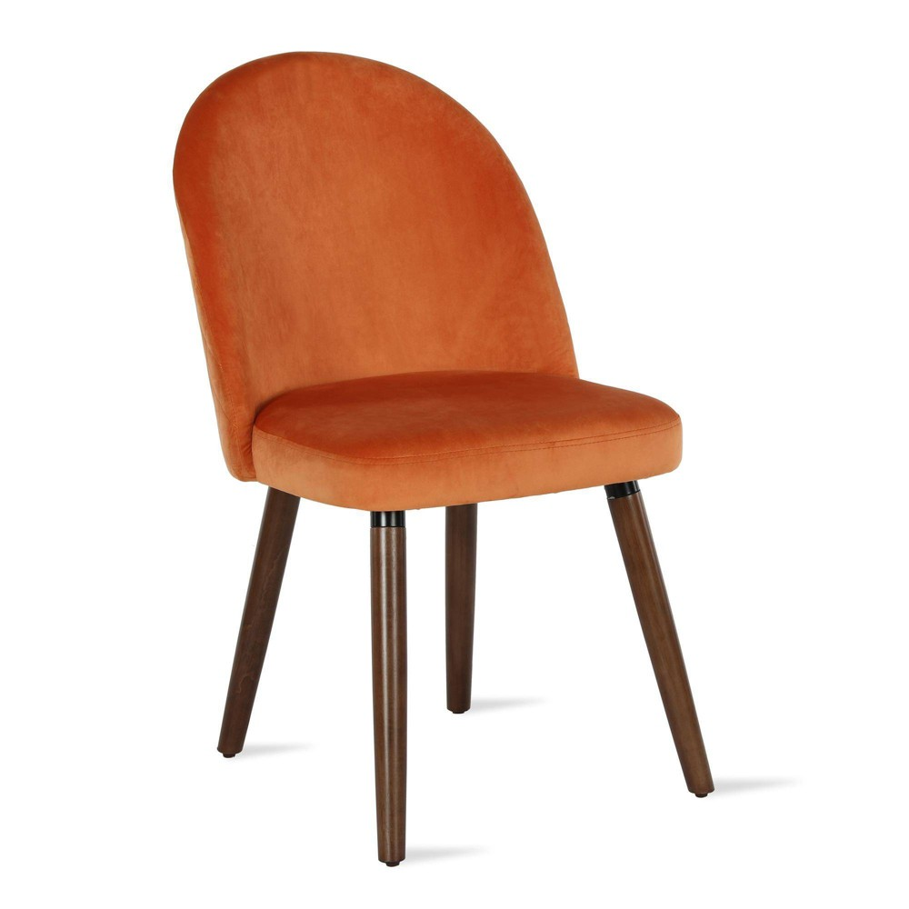 Image of 2pc Burma Upholstered Dining Chair Orange - Novogratz
