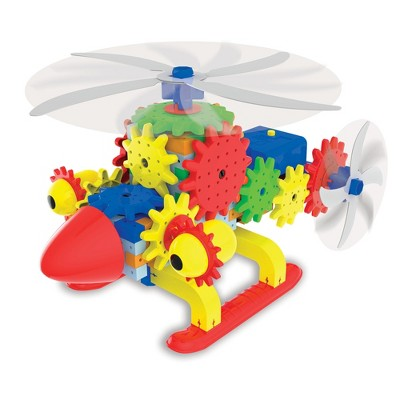 The Learning Journey Techno Gears STEM Construction Set Quirky Copter 60+ pcs