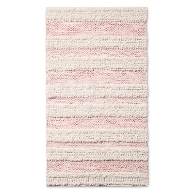 Woven Accent Rug (30 x48 )Pink & Cream - Pillowfort™