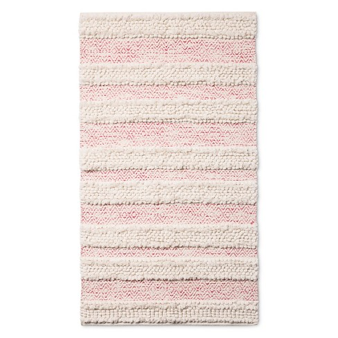 "30""x48"" Woven Accent Rug Pink/Cream - Pillowfort™ - image 1 of 4"