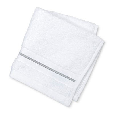 Microcotton Spa Stripe Accent Washcloth Gray Stripe - Fieldcrest®