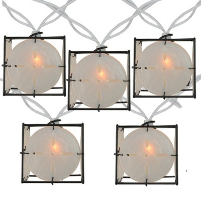 Northlight 10 Pearlized White and Black Lantern Party Patio Christmas Lights - 7.5 ft White Wire