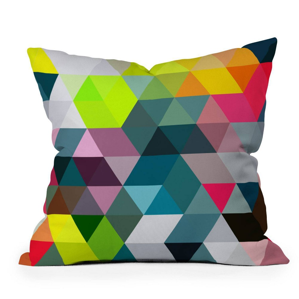 20 34 X20 34 Three Of The Possessed Autumn Electric Lights Square Throw Pillow Deny Designs