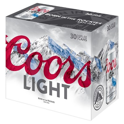Coors Light® Beer - 30pk / 12 fl oz Cans