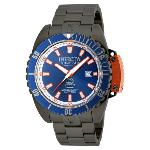 Men's Invicta 19870 Pro Diver Automatic 3 Hand Blue Dial Link Watch - Black - image 1 of 1