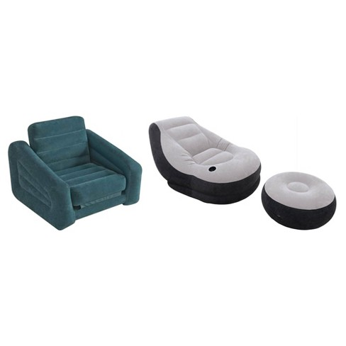 Intex Inflatable Pull-Out Chair Twin Bed Air Mattress & Inflatable Lounge Chair - image 1 of 4
