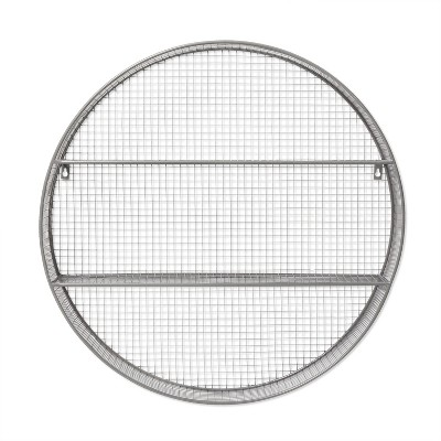 Circle Shelf Wall Sculpture Gray - Pillowfort™