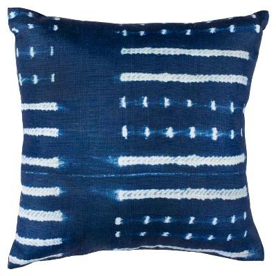 Narla Square Throw Pillow Dark Blue/White - Safavieh