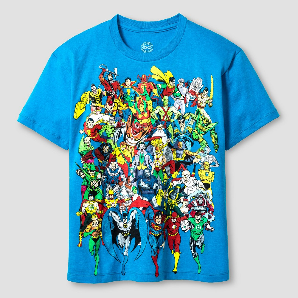 Boys' DC Comics Group T-Shirt - Turquoise XS