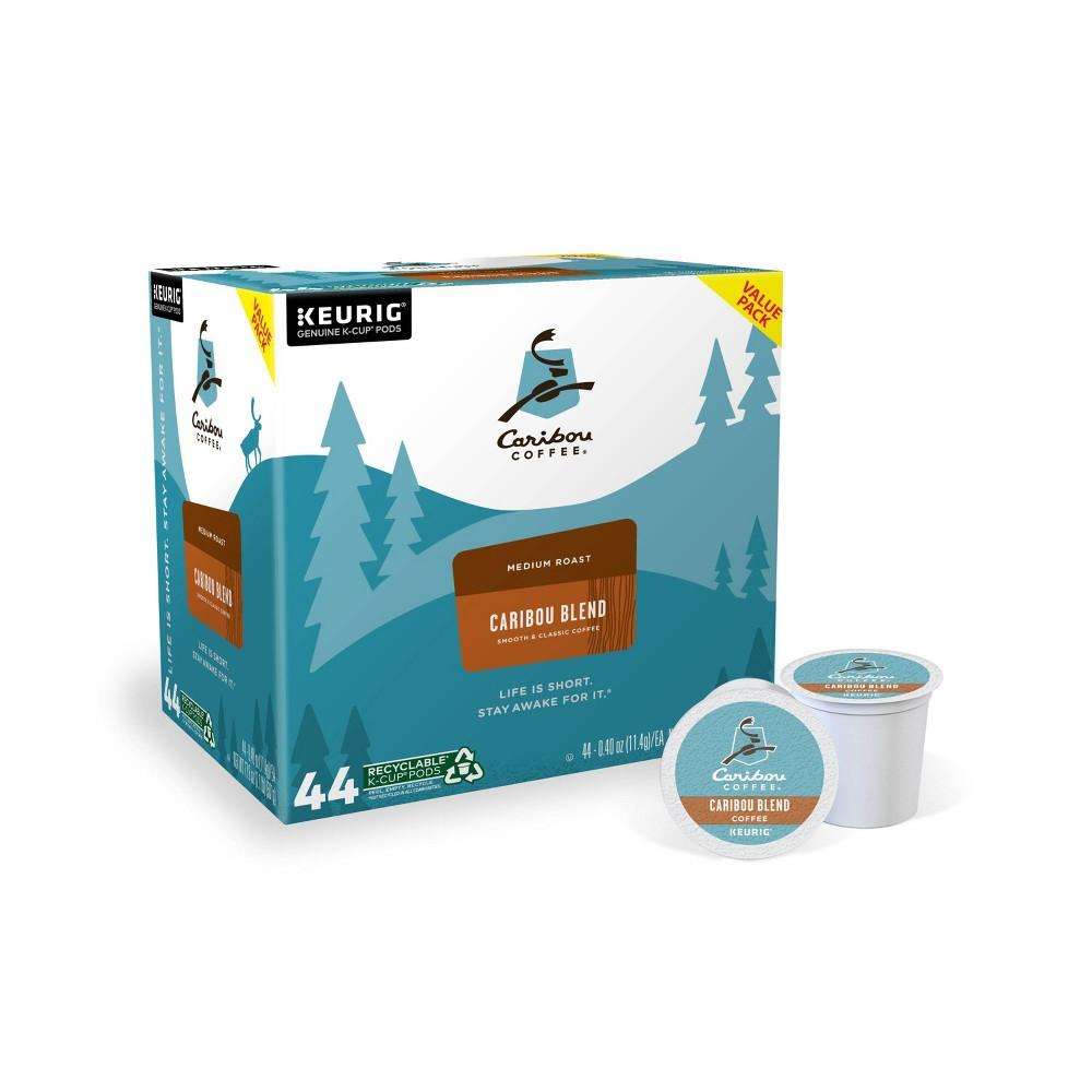 Caribou Coffee Caribou Blend Keurig K Cup Coffee Pods Medium Roast 44ct
