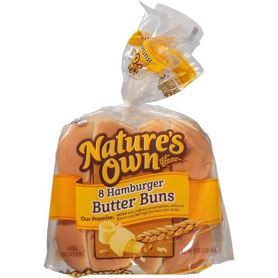 Nature's Own Butter Hamburger Buns - 16oz/8ct