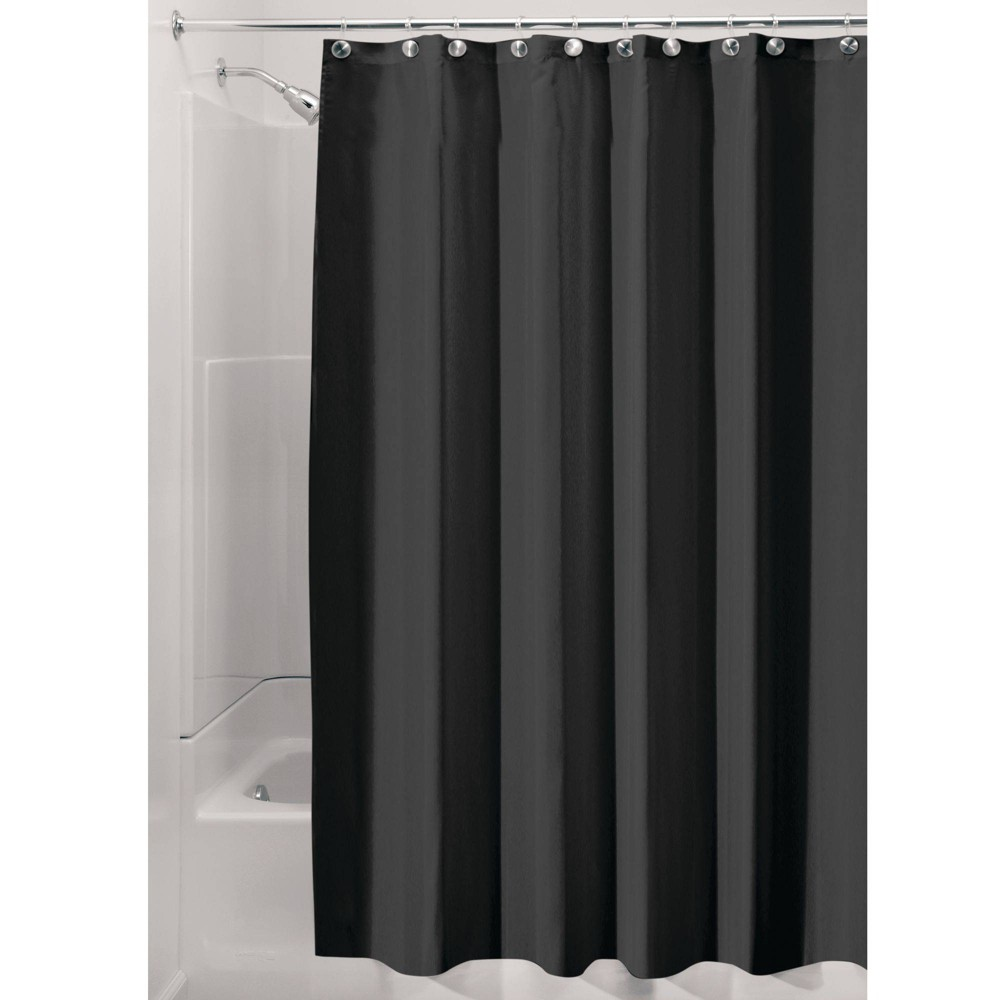 Image of Set of 2 Shower Curtain Liners Black - iDESIGN