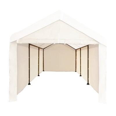 Caravan Canopy CVAN12002110160 Mega Domain Carport 4 Sidewalls, Tan