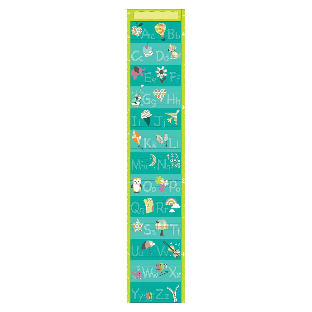 WallPops! Alphabet Growth Chart - Blue, Multi-Colored