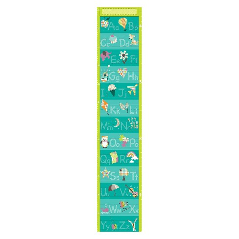 WallPops!® Alphabet Growth Chart - Blue - image 1 of 2
