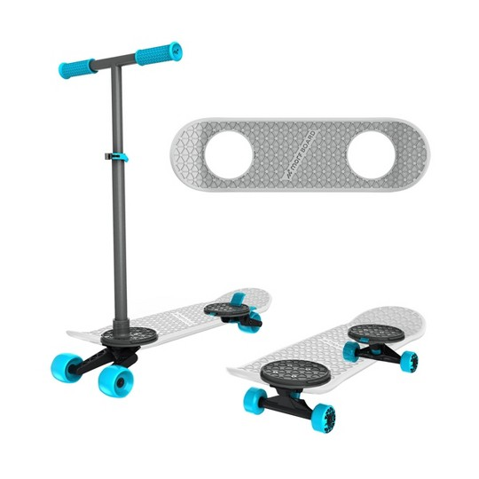 MorfBoard Scooter & Skateboard Combo Set - Silver Cyan image number null