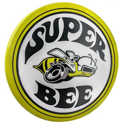 Dodge Super Bee Dome Metal Sign White/Yellow - Crystal Art Gallery