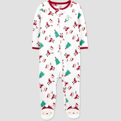 Baby Santa Fleece Sleep N' Play - Just One You® made by carter's White 9M