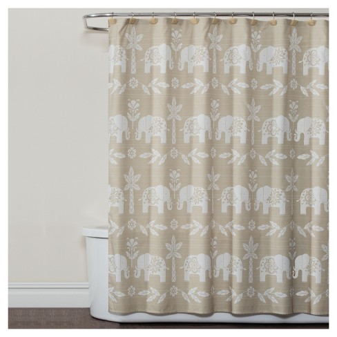Shower Curtain Saturday Knight Ltd Elephants Light Beige Target
