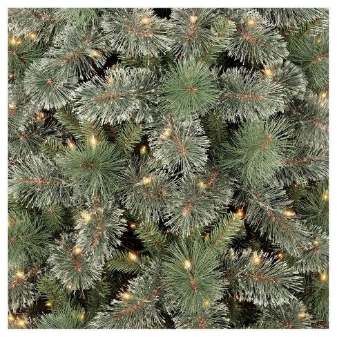 7 5ft prelit artificial christmas tree slim virginia pine clear