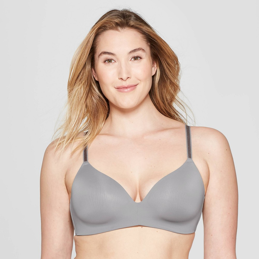 Womens Bliss Wirefree Bra - Auden Rocket City Gray 36DDD Price