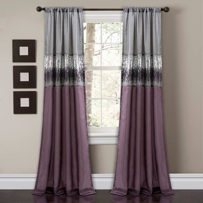 Night Sky Light Filtering Window Curtain Panel - Lush Décor