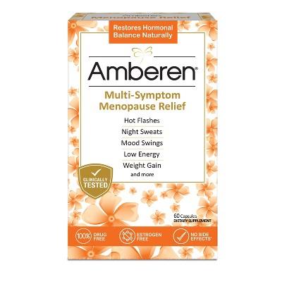 Amberen Menopause Relief Dietary Supplement Capsules - 60ct