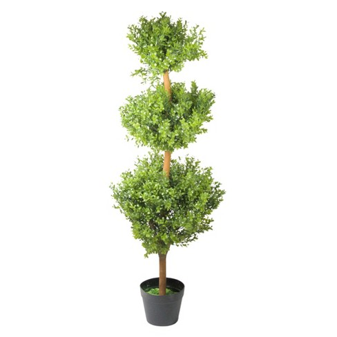 Northlight 3.85' Unlit Artificial Potted Two-Tone Murraya Triple Ball Topiary Tree - image 1 of 2