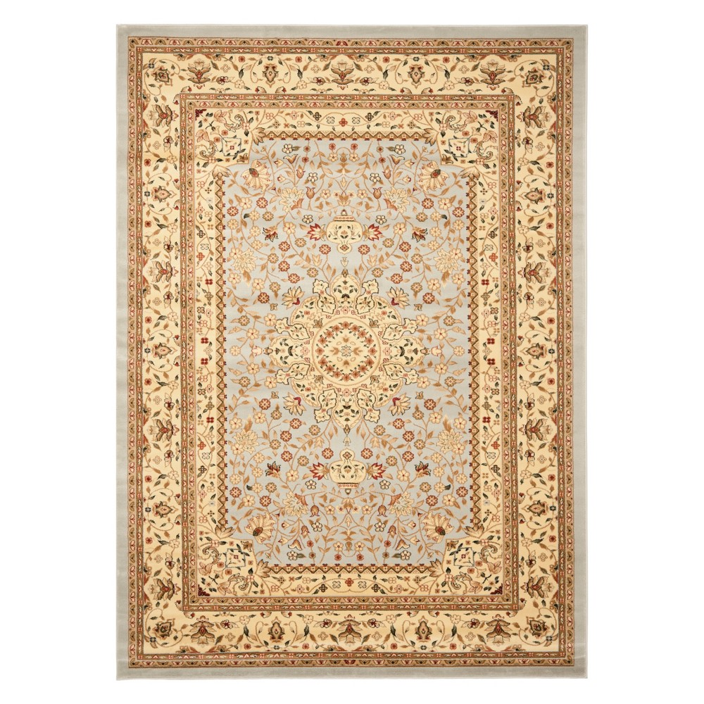 9'X12' Floral Loomed Area Rug Gray/Beige - Safavieh