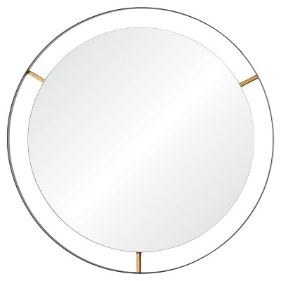 Framed Large Round Wall Mirror - Matte Black - Rogue Décor