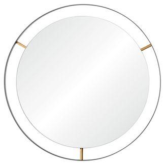 Framed Large Round Wall Mirror - Matte Black - Rogue Décor