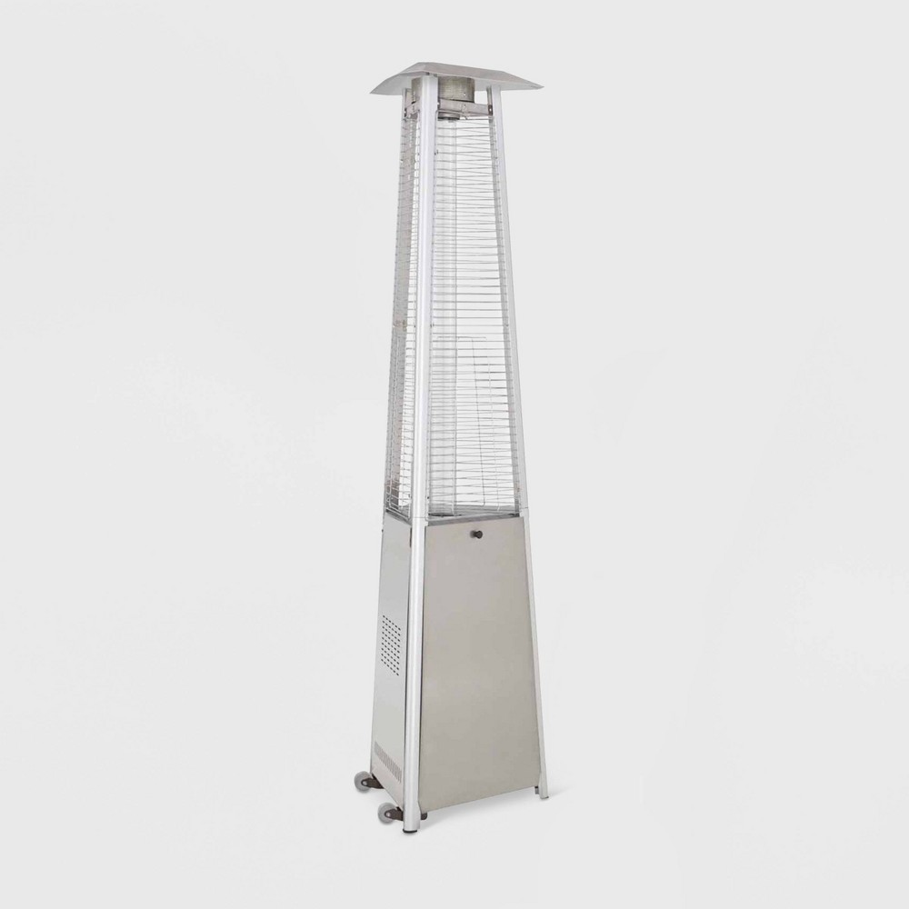 Image of Commercial Glass Tube Portable Heater - Stainless Steel - AZ Patio Heaters, Silver