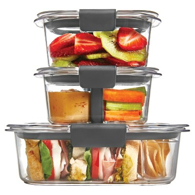 Rubbermaid Brilliance Sandwich or Snack Lunch Container, Clear, 10 Piece Set