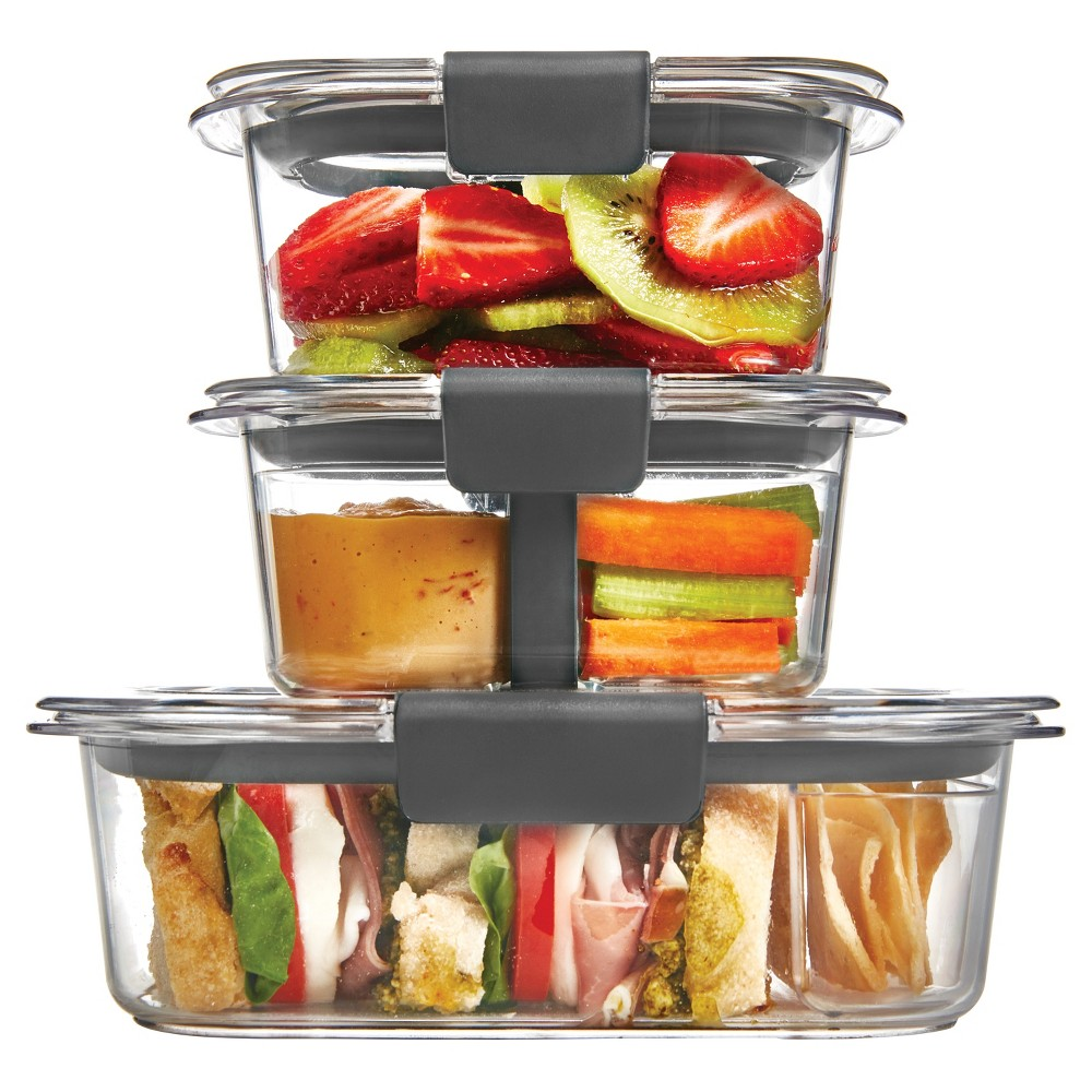 Image of Rubbermaid 10pc Brilliance Sandwich or Snack Lunch Container, Clear