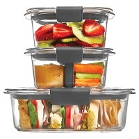 Target.com deals on Rubbermaid 10pc Brilliance Sandwich or Snack Lunch Container
