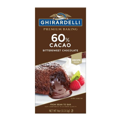 Ghirardelli 60% Cacao Bittersweet Chocolate Baking Bar - 4oz