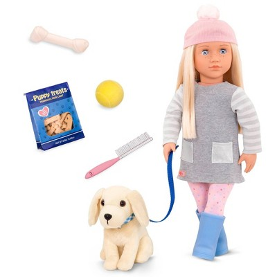 Our Generation Doll & Pet Plush Dog Set - Meagan and Pet Golden Retriever